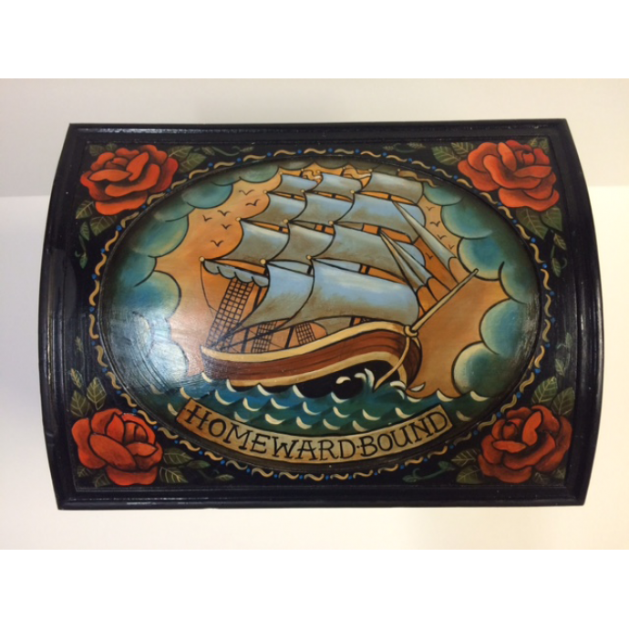Hand painted Homeward Bound chest