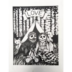 love screen print