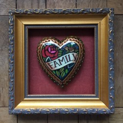 hand painted heart